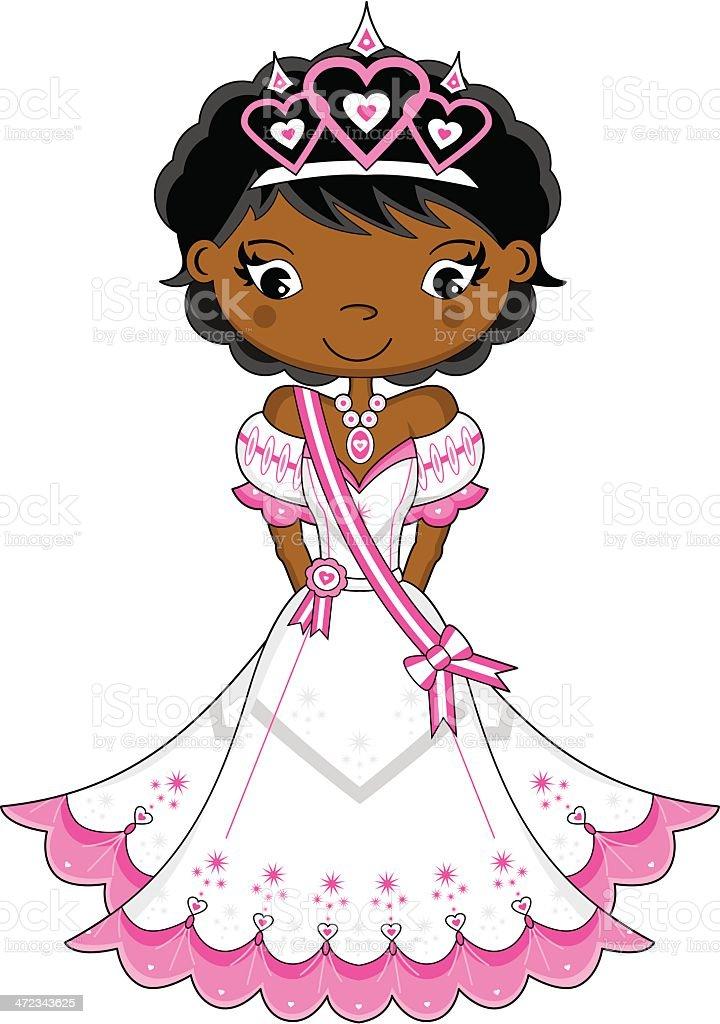 Cute Fairytale Princess vector art illustration