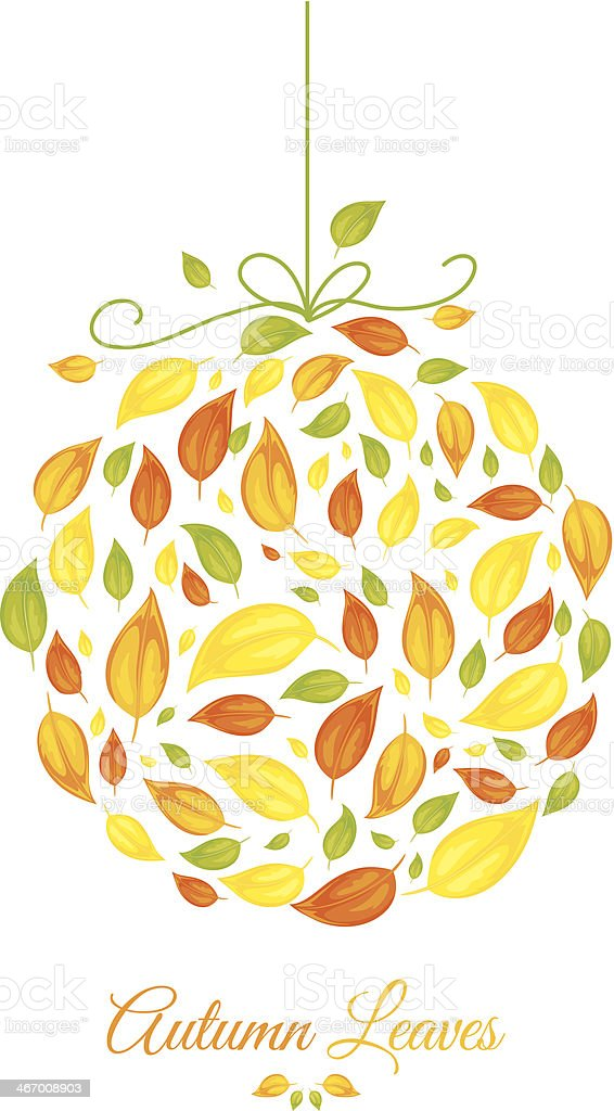 Cute Fall Leaves Ornament Stock Illustration Download Image Now Istock