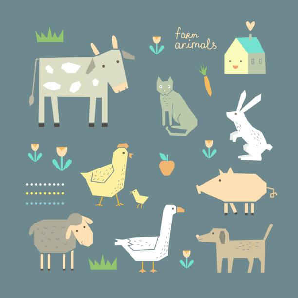 süße farm tiere in vektor - - karotte peace stock-grafiken, -clipart, -cartoons und -symbole