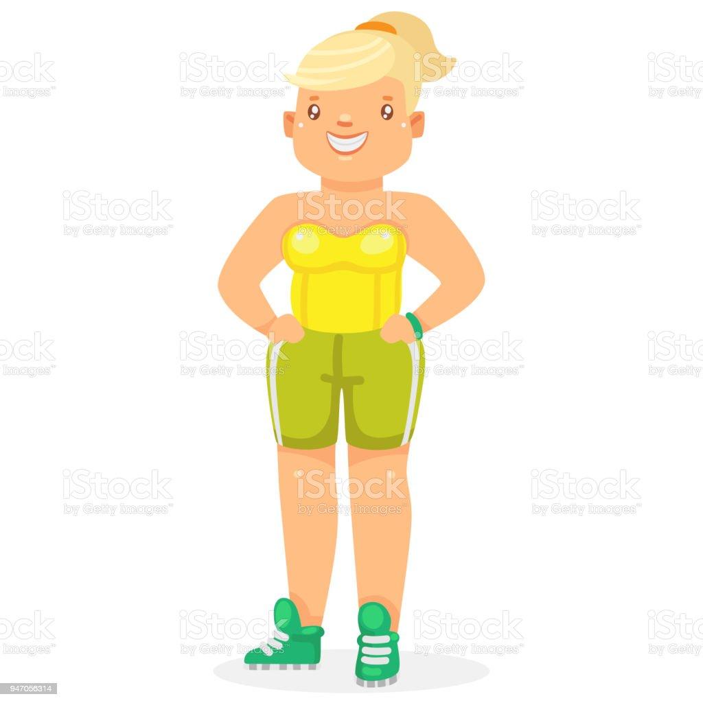 かわいい太った若い女性 1人のベクターアート素材や画像を多数ご用意