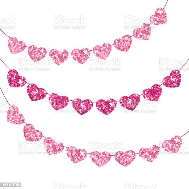 Cute festive vintage glitter hearts as bunting for your decoration vector id888123788?b=1&k=6&m=888123788&s=612x612&h=o39rgkbzmp73ccqamol73stmwmhwsxebwdafejxe11e=