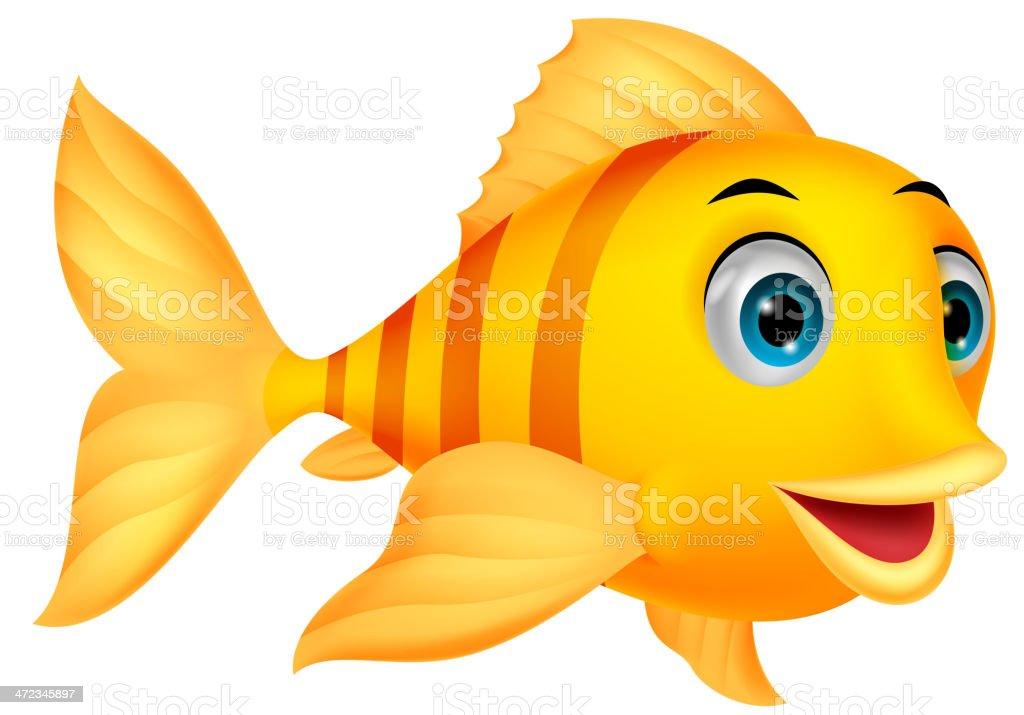 Cute fish cartoon vector art illustration