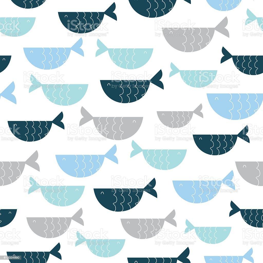 かわいい魚柄 のイラスト素材 613334990 | istock