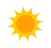 istock Cute flat sun icon 1124567572