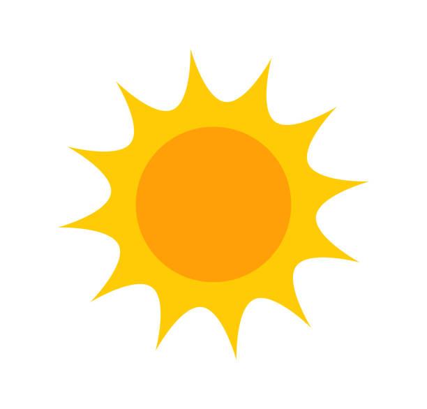 bildbanksillustrationer, clip art samt tecknat material och ikoner med söt platta sun-ikonen - sun