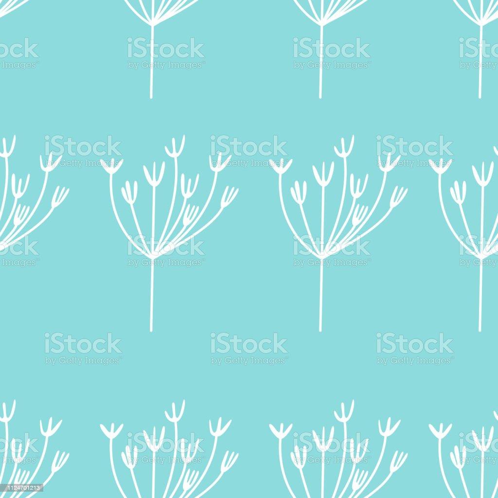 青の背景にシンプルなビンテージ花とかわいい花柄シームレスな背景最小限のスタイルで花を繰り返しパターンのベクトルファッションのプリントラップ壁紙などのエレガントなテ いたずら書きのベクターアート素材や画像を多数ご用意 Istock
