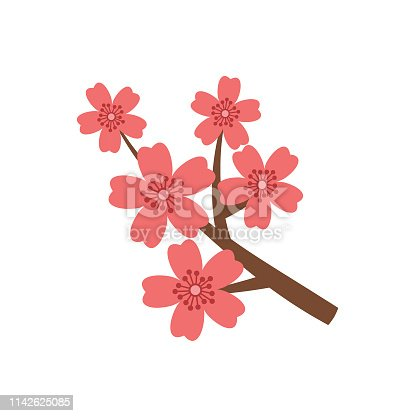 Simple flower icon in flat design style isolated on white.