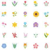 istock Cute Flower Icon In Flat Design - Sunflower 1142625298