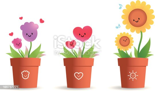 istock Cute Flower Pot For Mother's Day 165737771