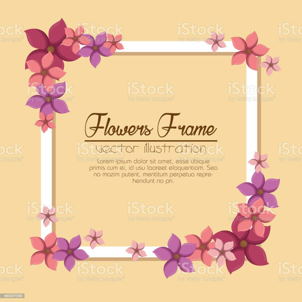 Cute Flowers Frame Background Stock Vector Art More Images Of Art