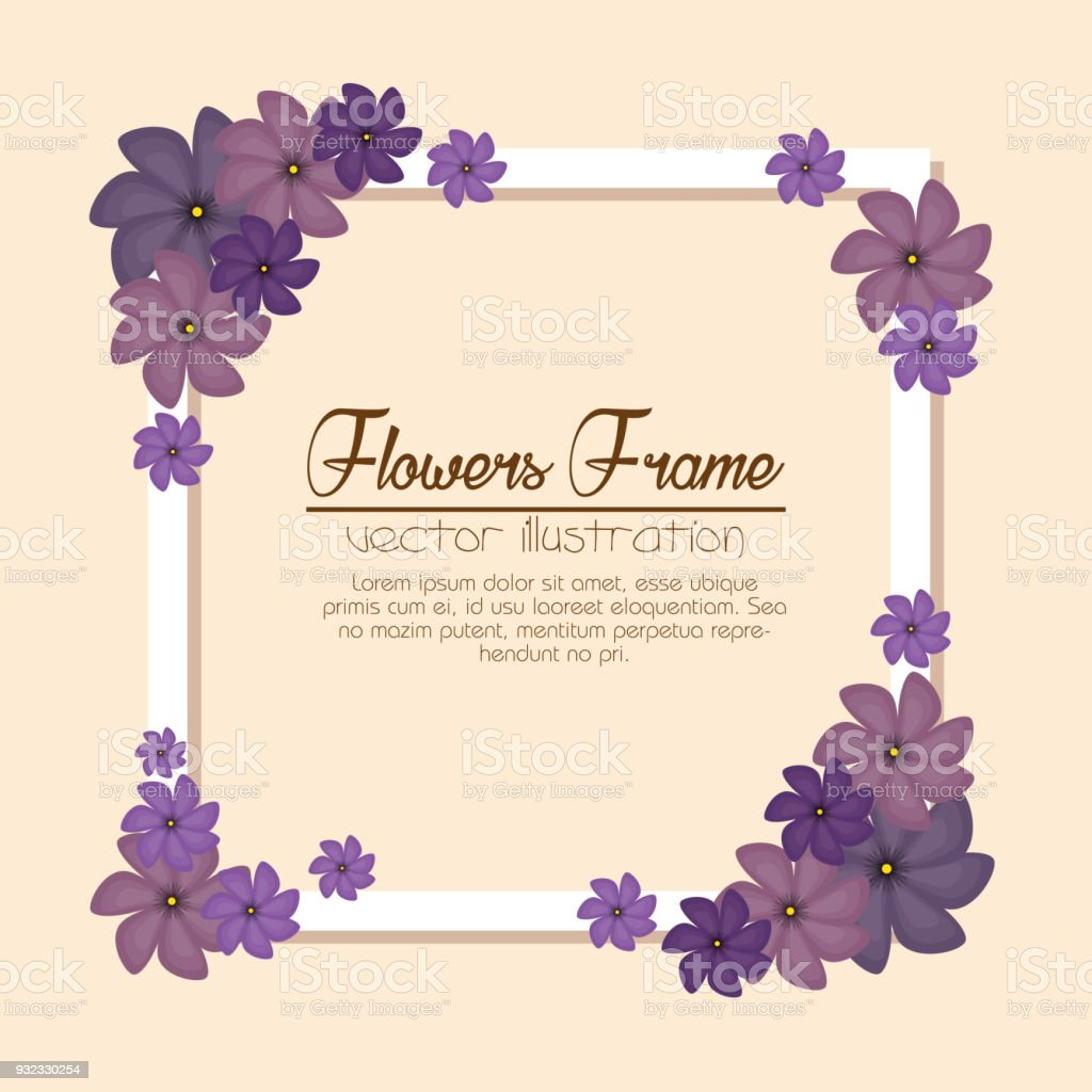 Cute Flowers Frame Background Stock Vector Art & More Images of Art ...