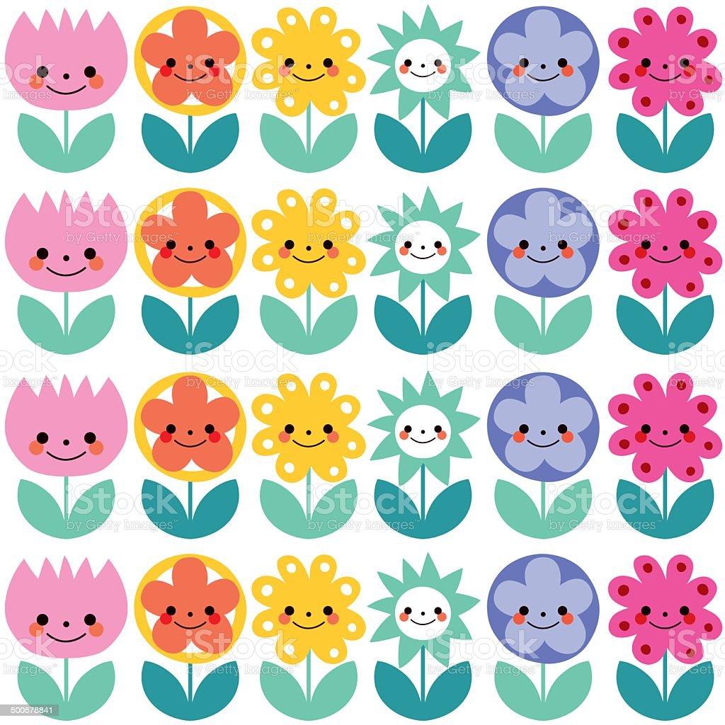 かわいい花柄 イラストレーションのベクターアート素材や画像を多数ご