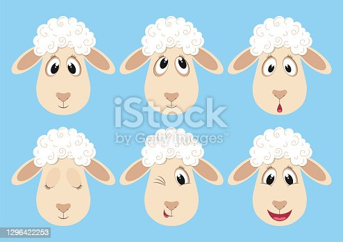 istock Cute fluffy sheep 1296422253