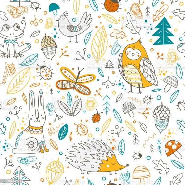 Cute forest animals and elements vector seamless pattern vector id1026090404?b=1&k=6&m=1026090404&s=612x612&h=ei3euasvacyee4tpxtuy63nn1hqgdom67oypyupeib4=