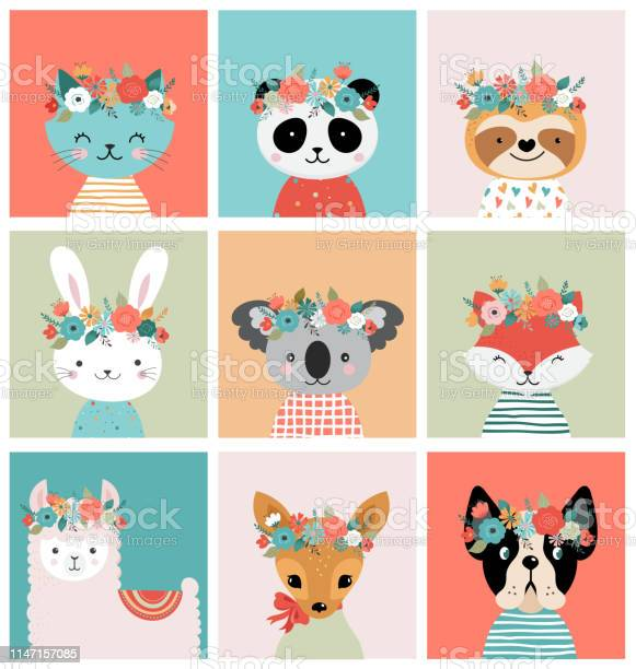 Cute foxes heads with flower crown vector seamless pattern design for vector id1147157085?b=1&k=6&m=1147157085&s=612x612&h=zw2icvffavd qrilingfx ndz3trbhfwvnmmnq3deg4=