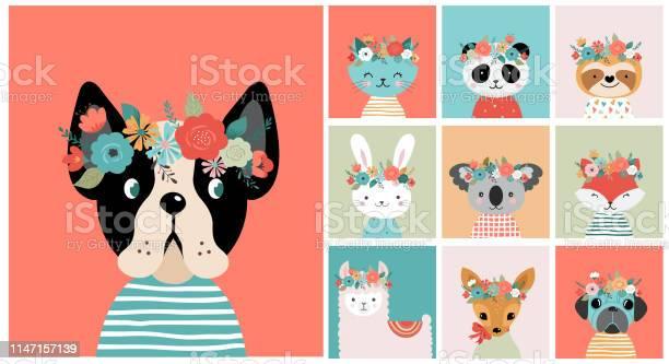 Cute foxes heads with flower crown vector seamless pattern design for vector id1147157139?b=1&k=6&m=1147157139&s=612x612&h=vbr6gmxt351xgnz716oegxykilzy6bb2rmah5bqzpai=