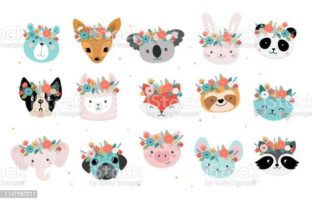 Cute foxes heads with flower crown vector seamless pattern design for vector id1147157211?b=1&k=6&m=1147157211&s=612x612&h=isrtsnf njx7imd bx7ojsskfck1x15exjt9e5n3c1e=