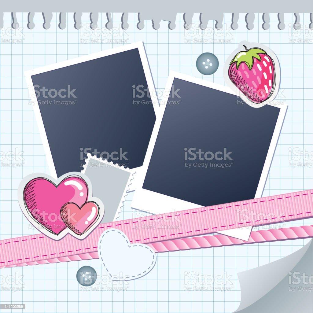 cute frame for photos royalty-free stock vector art