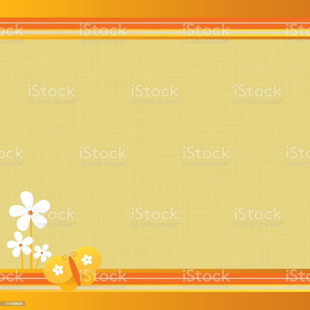 Cute frame with daisies and butterfly royalty-free stock vector art