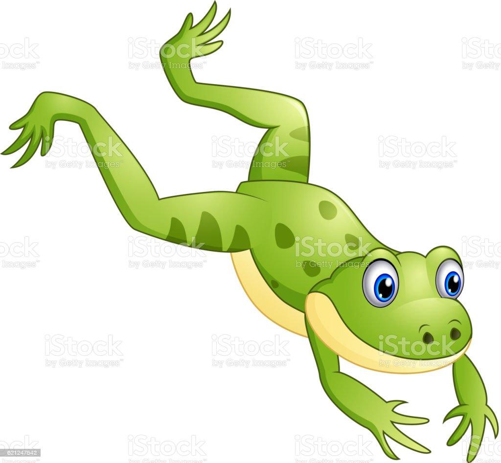 Frog Jumping Clipart Royalty Free Frog Jump...