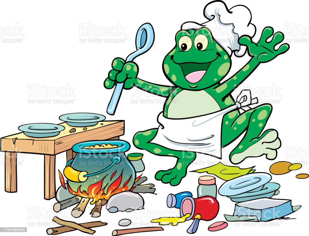 Cute Frog Chef Vector Stock Illustration - Download Image Now - iStock