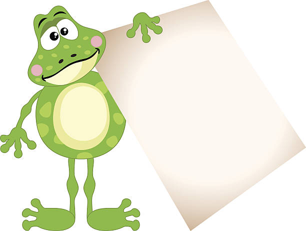 Best Frog Holding Sign Illustrations, Royalty-Free Vector ...