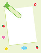 cute frog message card