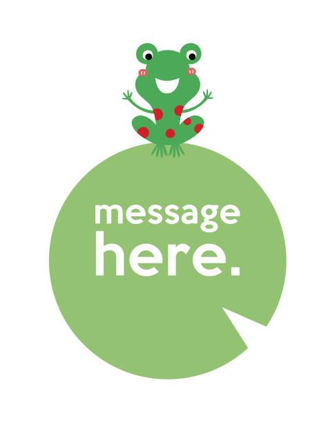 Cnette Frosch-Message-Karte Vektor – Vektorgrafik