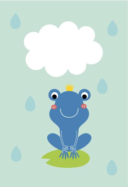 süße Frosch Prinz Grußkarte – Vektorgrafik