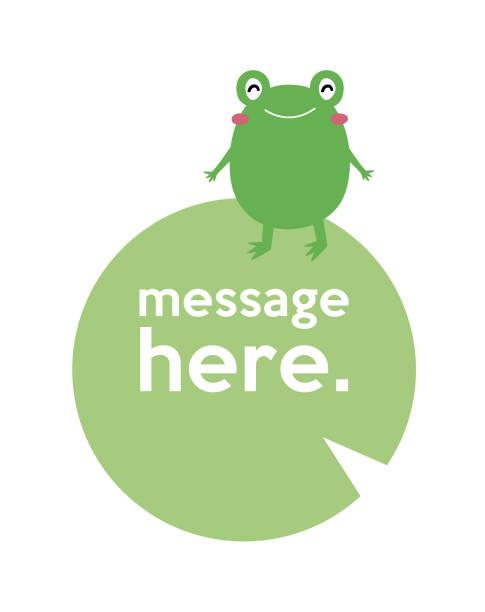 süße Frosch Valentinstag Grußnachricht – Vektorgrafik