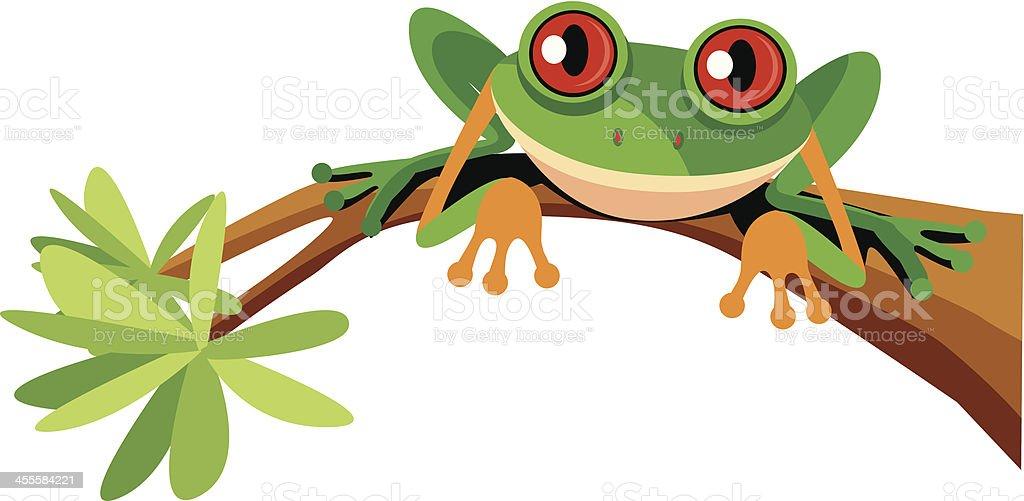 Cute Frog vector art illustration