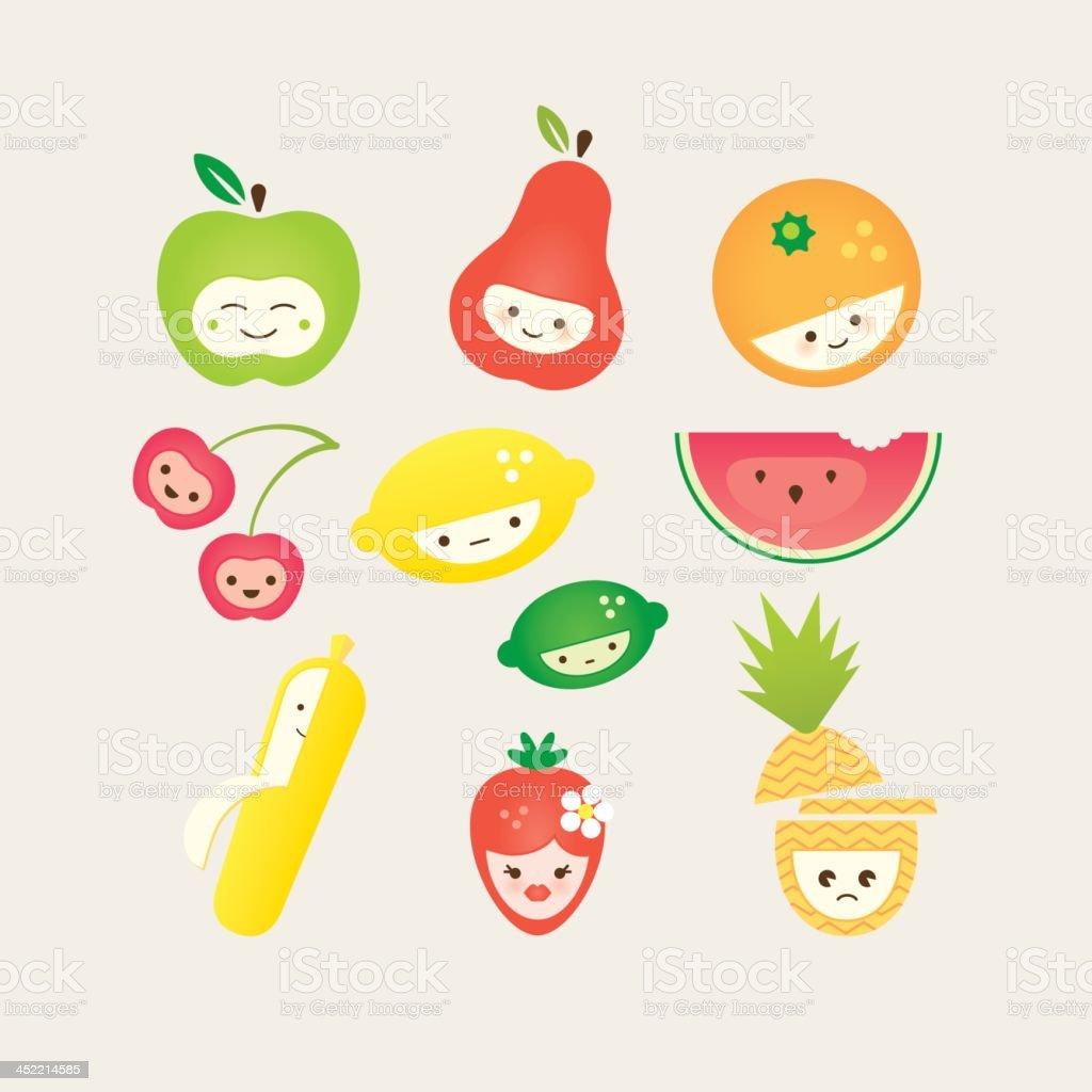 Cute Fruit royalty-free stock vector art