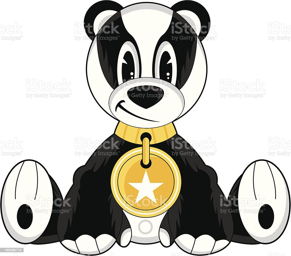 Cute Funky Badger Character royalty-free cute funky badger character stock vector art & more images of animal