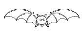 istock cute funny bat, bloodsucker, symbol of vampire, midnight & halloween holiday, pet 1284151533
