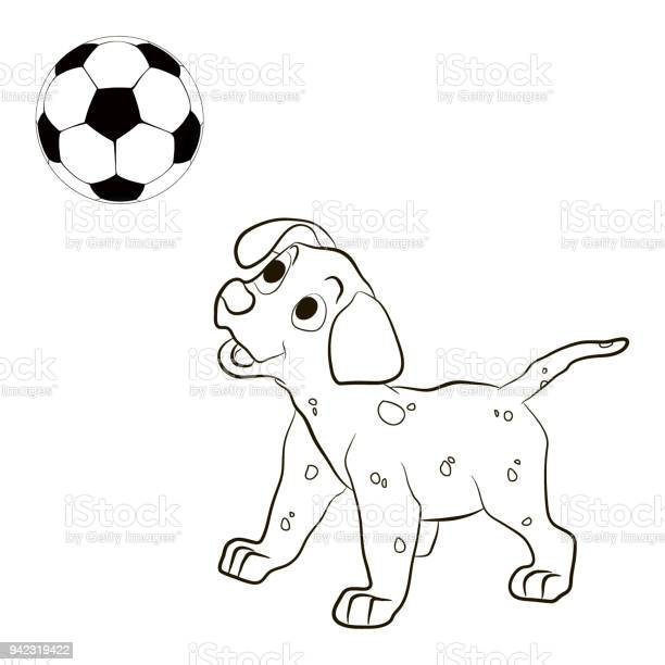 Cute funny dog is playing footballpets and ball isolated on white vector id942319422?b=1&k=6&m=942319422&s=612x612&h=tuoqbnmzlu3ptss35fzrfeaei7ge4yqzgyy6dsowtxk=