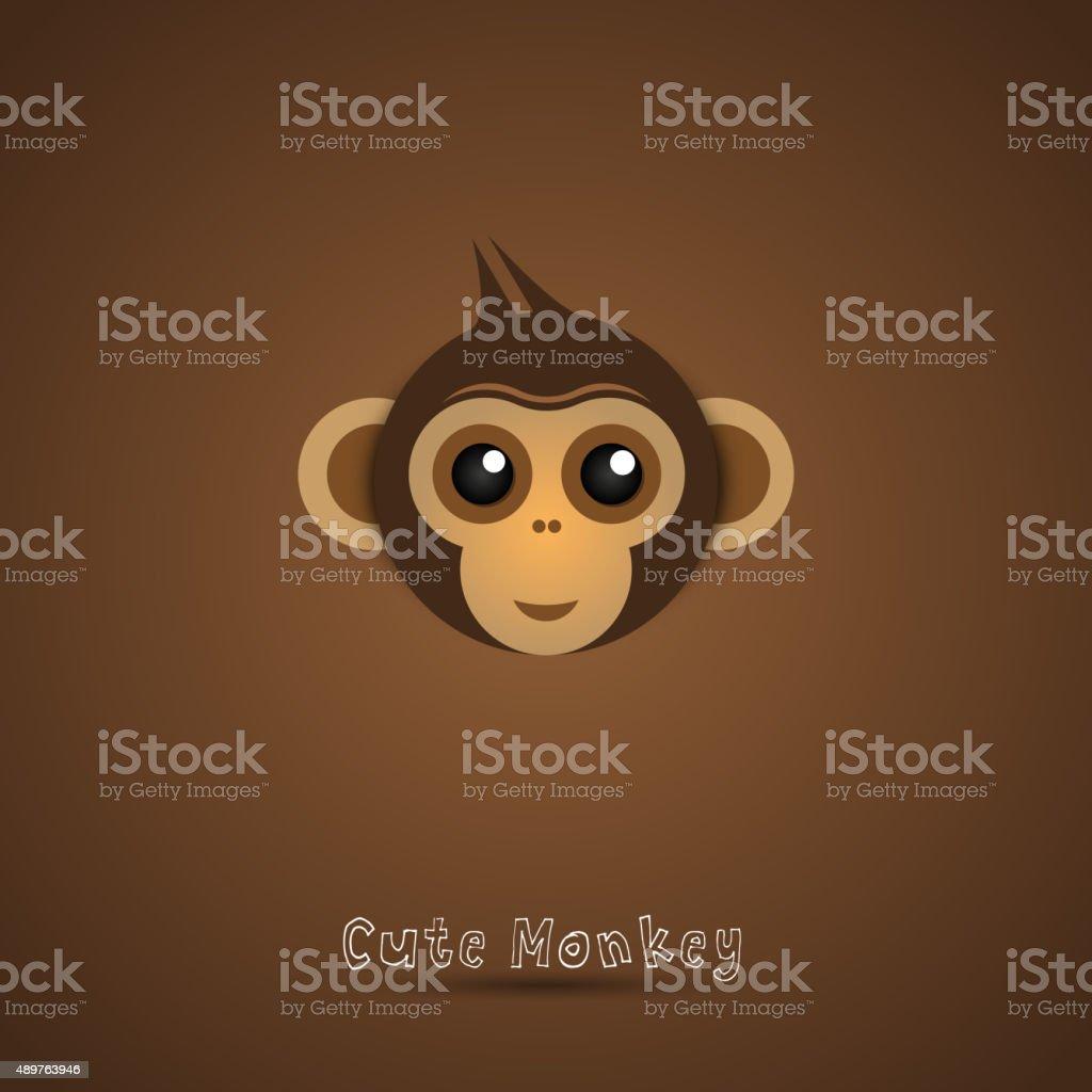 Süße lustige Affen Gesicht illustration – Vektorgrafik
