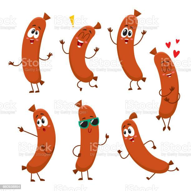 Cute funny sausage characters with human face showing different vector id660938854?b=1&k=6&m=660938854&s=612x612&h=rh9j9zttuuetxx zl glxltp8ylauwuughombp6gmm4=