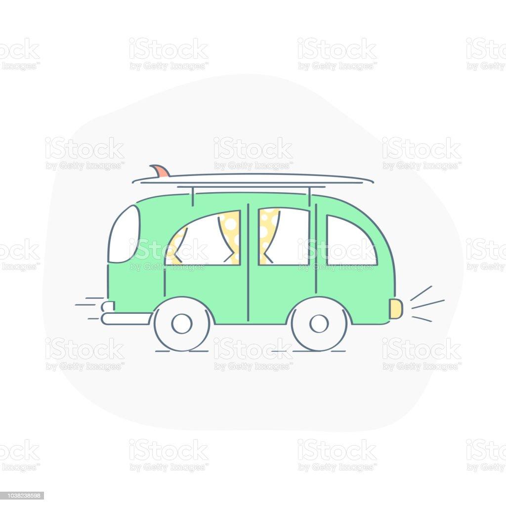 Bus Freight Transportation Mode Of Transport Summer Tour