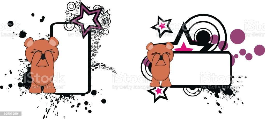 cute funny teddy bear cartoon copy space set royalty-free cute funny teddy bear cartoon copy space set stock vector art & more images of bear