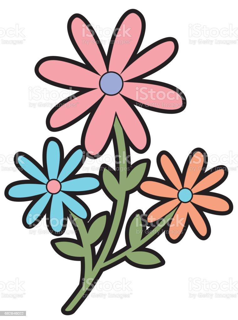 dekorative Symbol niedlichen Garten Blume Lizenzfreies dekorative symbol niedlichen garten blume stock vektor art und mehr bilder von baumblüte