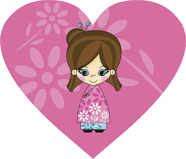 Clip Art Of A Cute Indian Little Girl Illustrations ...