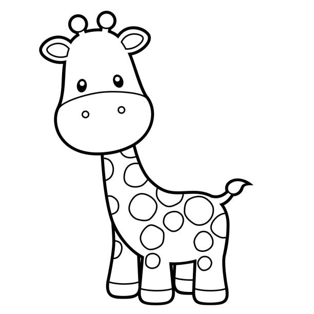 Baby Giraffe Clipart Illustrations, Royalty-Free Vector ...