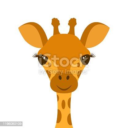 istock Cute Giraffe Head 1196080109