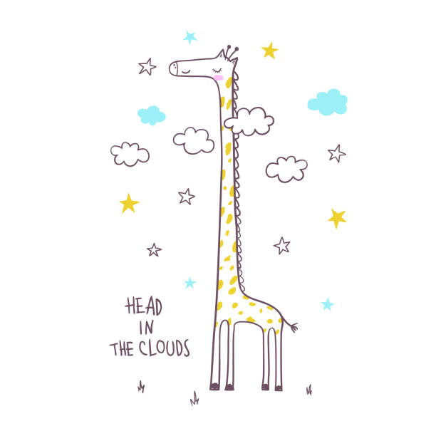 niedliche giraffe. vektor-illustration für kinder - giraffenhumor stock-grafiken, -clipart, -cartoons und -symbole