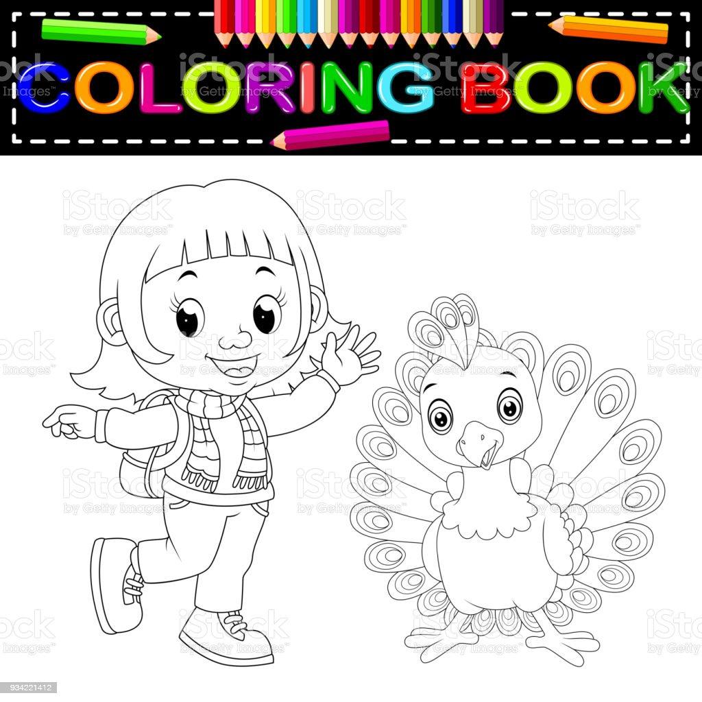 Hermosa Pavo Gratis Para Colorear Para Preescolares Bosquejo ...