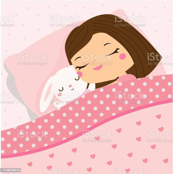 Cute girl sleeping with bunny toy cartoon kid in bed having sweet vector id1149733474?b=1&k=6&m=1149733474&s=612x612&h=qqna7w1c81rohao75mgfyvtlomrtesbmsxyreyofmty=