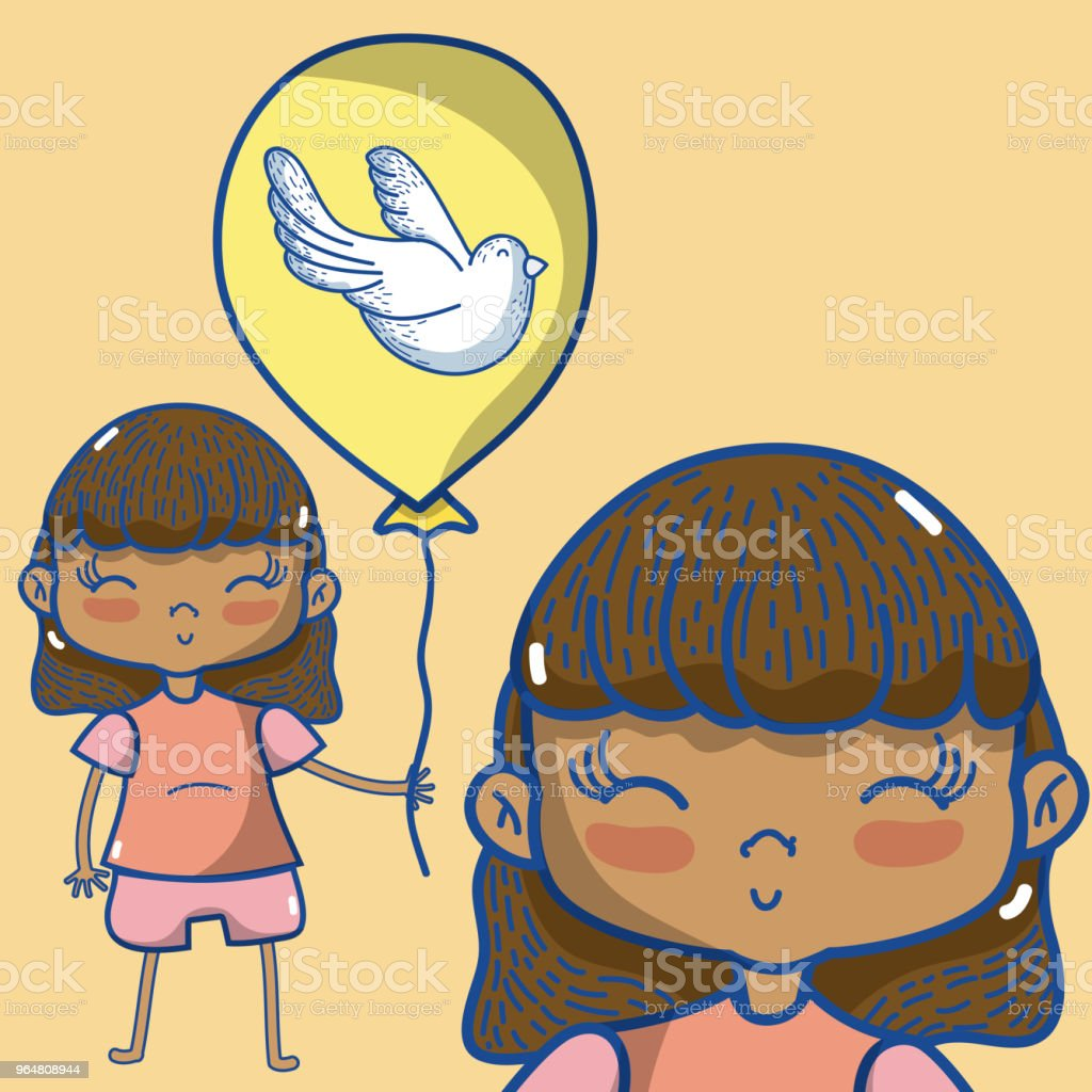 Cute girl with balloon royalty-free cute girl with balloon stock vector art & more images of baby