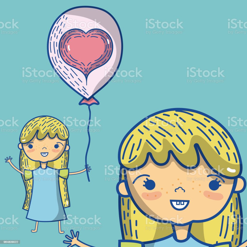 Cute girl with balloon royalty-free cute girl with balloon stock vector art & more images of baby - human age