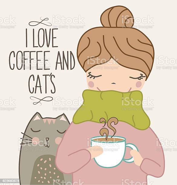 Cute girl with cat drinking coffee vector id623683678?b=1&k=6&m=623683678&s=612x612&h=gowmmhkswm1keo33vwqgtqoylxdbsgukkdrbwmfvqgo=