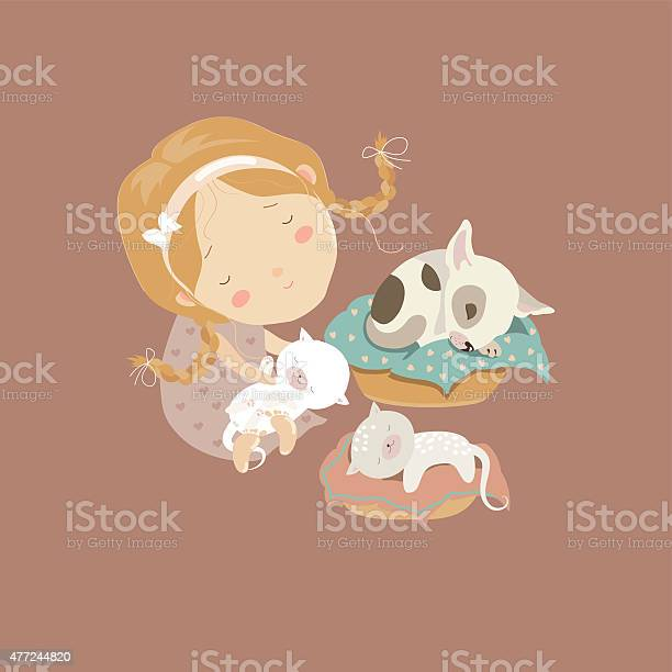 Cute girl with funny kittens and puppy vector id477244820?b=1&k=6&m=477244820&s=612x612&h=r0y1ankp7ibxtymtr2du0cuhti8l6lonsaide5dae2a=